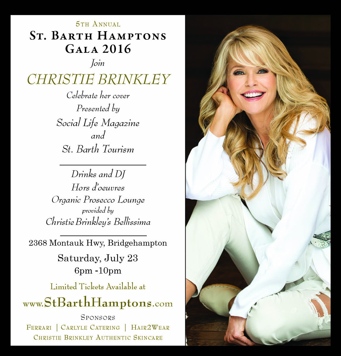 5th Annual St. Barth Hamptons Gala